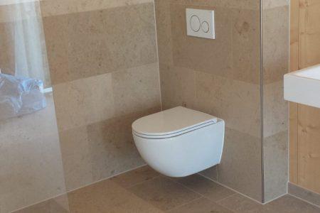 Massivholzhaus WC