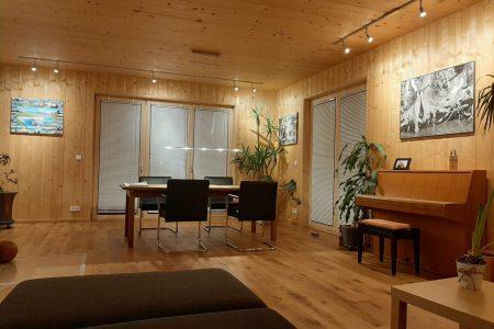 Massivholzhaus Essszimmer
