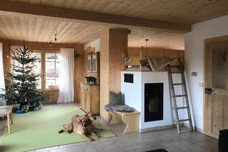 Massivholzhaus Wohnzimmer